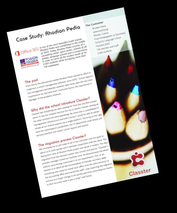 Microsoft Case Study: Rhodian Pedia becomes prototype school using Classter & O365
