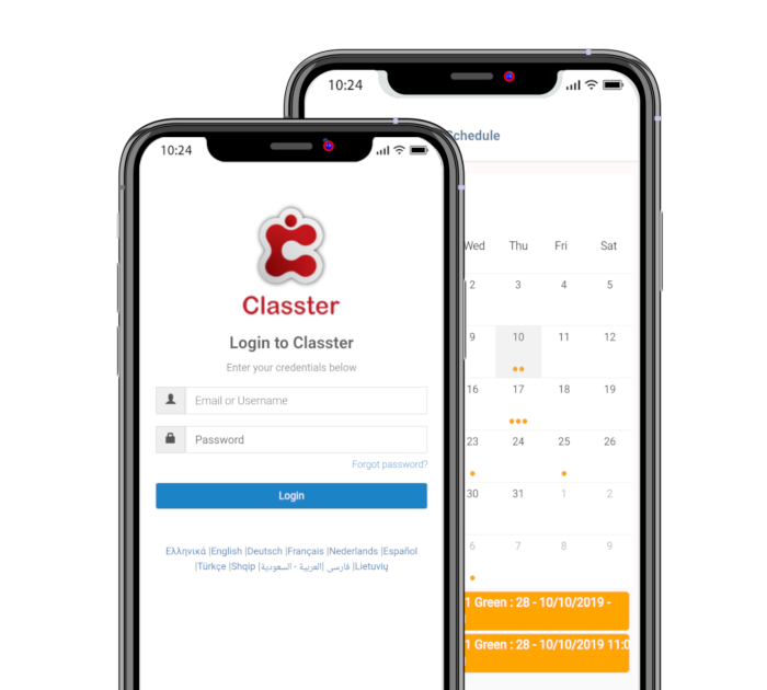 classter mobile apps android ios